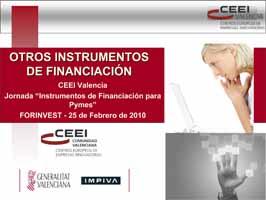Otros instrumentos de financiación de las empresas CEEI Valencia (Presentación)