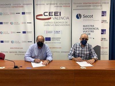Firma co colaboración CEEI Valencia y Secot