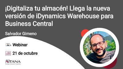 Webinar ¡Digitaliza tu almacén! Llega la nueva versión de iDynamics Warehouse para Business Central