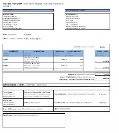 factura pro-forma