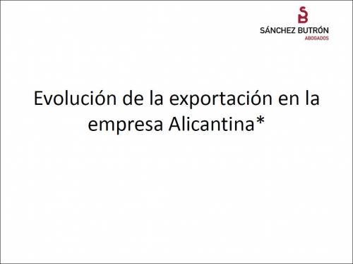 Evolución de la exportación en la empresa Alicantina