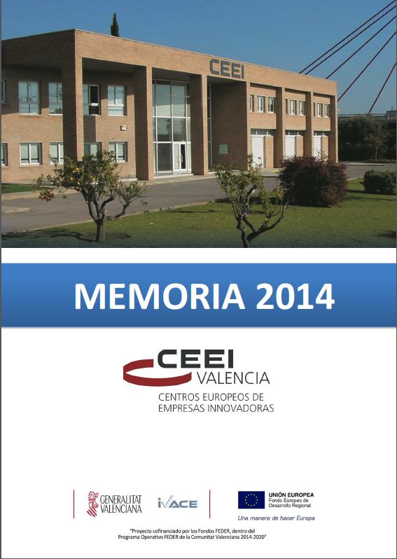 Portada Memoria CEEI Valencia 2014