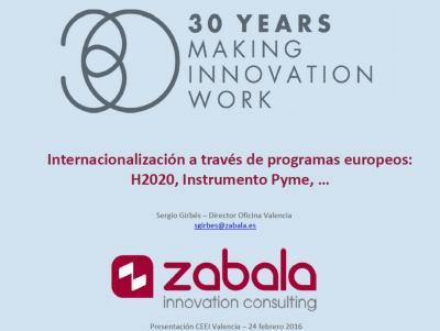 Otros Programas Europeos: H2020, Instrumento Pyme