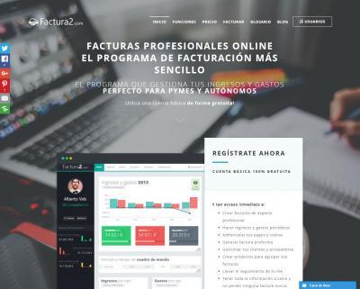 Programa de facturación online Factura2.com