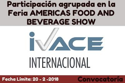 Participación agrupada en la Feria AMERICAS FOOD AND BEVERAGE SHOW