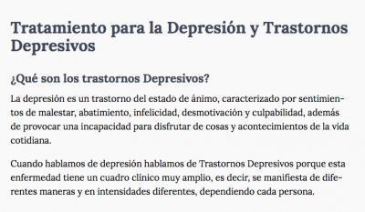 Síntomas de depresión y ansiedad