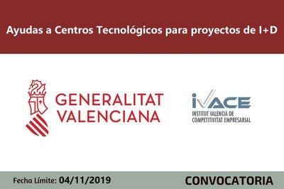 Ayudas Centros Tecnológicos  de la Comunitat Valenciana