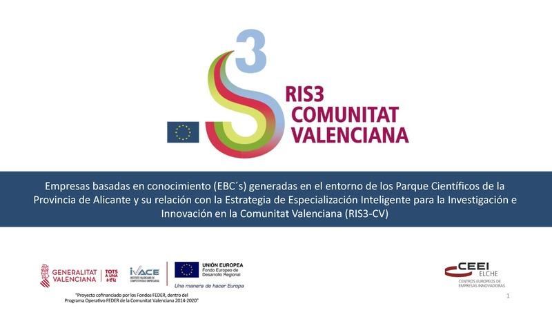 EBC´s generadas en el entorno de los Parque Científicos de la Provincia de Alicante y su relación con RIS3-CV