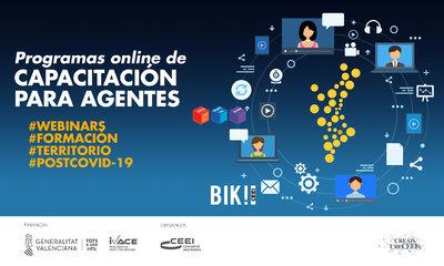 Programa capacitación on line para agentes del Ecosistema de Emprendimiento de la Comunitat Valenciana