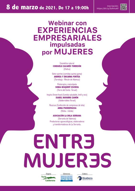 """Webinar """"Entre Mujeres"""""""