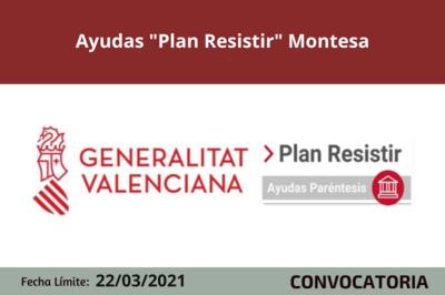 """Ayudas """"Plan Resistir"""" Montesa"""